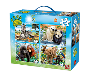 Animal World 4in1 Koffer