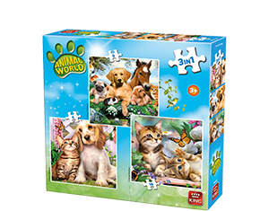 Animal World 3 In 1 Puzzle