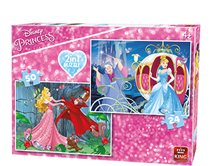 Disney 24/50pc 2in1 Princesses
