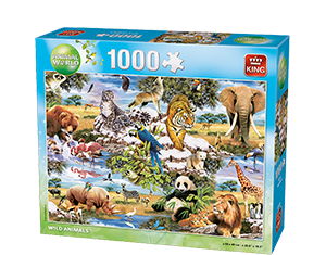 Animals World 1000pcs Wild Animals