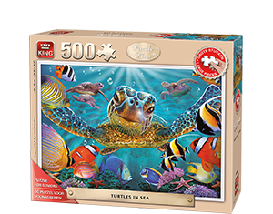 Puzzle Plus 500pcs Turtles In Sea