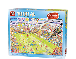Comic 1000pcs Soccer Stadium