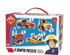 Fireman Sam 4in1 Shaped Puzzle
