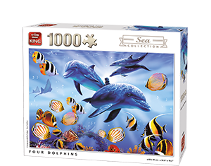 Generic 1000pcs Four Dolphins