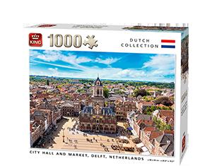 Generic 1000pcs City Hall And Market, Delft